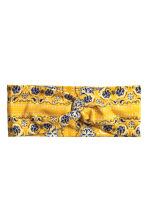 Patterned hairband - Yellow - Ladies | H&M CA 1