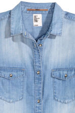 Long shirt - Denim blue - Ladies | H&M CN 3