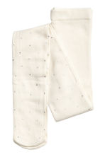 Tights with sparkly stones - White - Kids | H&M CN 2