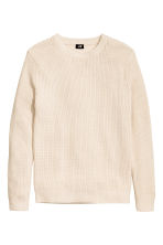 Textured-knit jumper - Natural white - Men | H&M CN 2