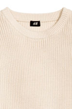Textured-knit jumper - Natural white - Men | H&M CN 3
