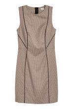 Fitted dress - Beige/Checked - Ladies | H&M CN 2