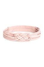Jersey hairband - Light pink - Ladies | H&M CN 1