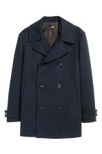 Pea coat - Dark blue - Men | H&M CN 2