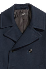 Pea coat - Dark blue - Men | H&M CN 4