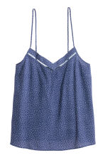 Pyjamas with shorts and top - Dark blue/Spotted - Ladies | H&M CN 3