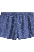 Pyjamas with shorts and top - Dark blue/Spotted - Ladies | H&M CN 4