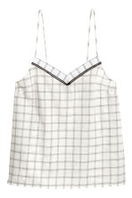 Pyjamas with shorts and top - Black/White/Checked - Ladies | H&M CN 3