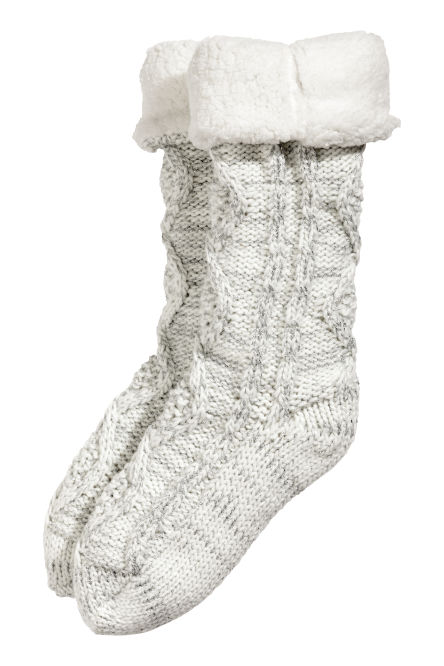 Pile-lined thick socks