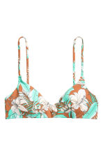 Bikini top - Dark beige/Turquoise - Ladies | H&M CN 2