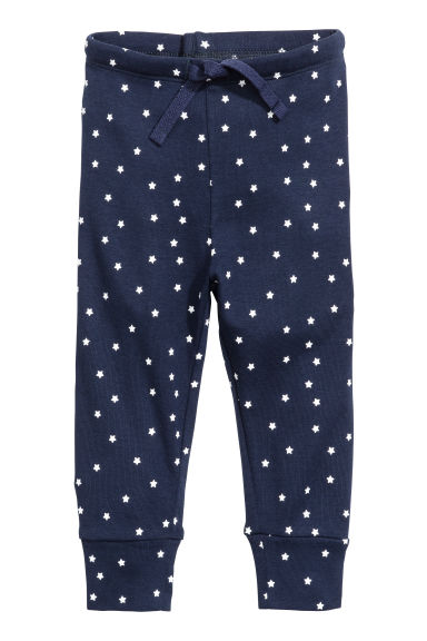 Jersey trousers - Dark blue/Stars -  | H&M CN 1
