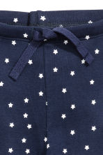Jersey trousers - Dark blue/Stars -  | H&M CN 2