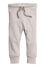 Jersey trousers - Beige/Striped - Kids | H&M CN 1