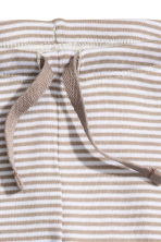 Jersey trousers - Beige/Striped - Kids | H&M CN 2