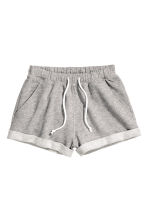 Sweatshirt shorts - Grey marl - Ladies | H&M 3
