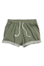 Sweatshirt shorts - Khaki green marl - Ladies | H&M 2