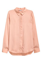Long-sleeved blouse - Powder - Ladies | H&M CN 2