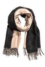 Reversible scarf - Beige/Black - Ladies | H&M CN 1
