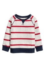 Light grey marl/Red striped