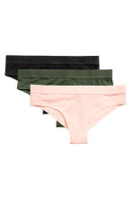 3-pack cotton-blend briefs - Light pink - Ladies | H&M CN 2