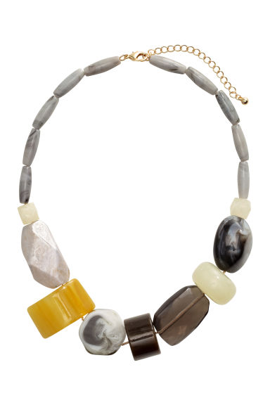 Short necklace - Grey/Yellow - Ladies | H&M CN 1