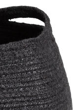 Jute storage basket - Black - Home All | H&M CN 3