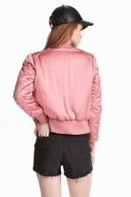 Short satin bomber jacket - Pink - Ladies | H&M 4