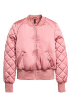 Short satin bomber jacket - Pink - Ladies | H&M 2