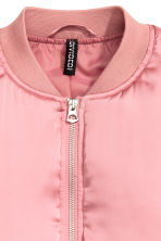 Short satin bomber jacket - Pink - Ladies | H&M 5