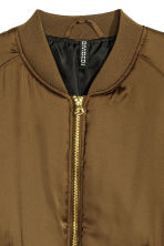 Short satin bomber jacket - Dark olive green - Ladies | H&M 3