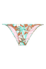 Bikini brief bottoms - Dark beige/Turquoise - Ladies | H&M CN 2