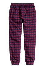 Flannel joggers - Burgundy/Checked - Men | H&M CN 2