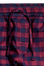 Flannel joggers - Burgundy/Checked - Men | H&M CN 3