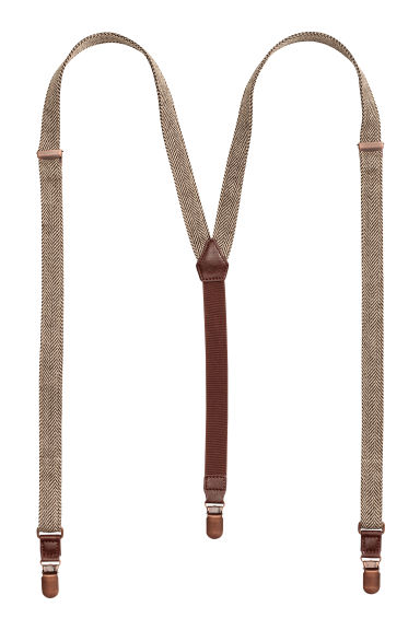 Herringbone-patterned braces - Beige - Men | H&M CN 1