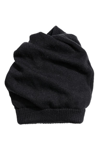 Knitted hat/tube scarf - Black - Men | H&M CN 1