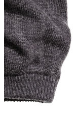 Knitted hat/tube scarf - Dark grey marl - Men | H&M CN 2