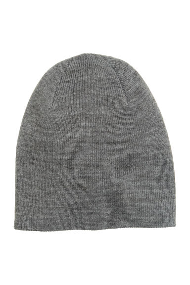 Knitted hat - Grey marl - Men | H&M CN