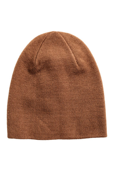 Knitted hat - Light brown - Men | H&M CN 1