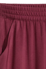 Pull-on trousers - Burgundy - Ladies | H&M CN 3