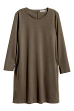 Jersey dress - Dark Khaki - Ladies | H&M CN 2