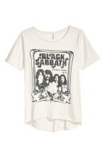 Light beige/Black Sabbath