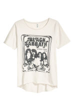 Print T-shirt - Light beige/Black Sabbath - Ladies | H&M CN 2