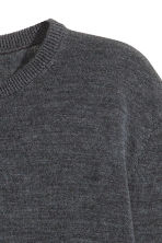 Merino wool jumper - Dark grey marl -  | H&M CN 3