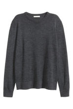 Merino wool jumper - Dark grey marl -  | H&M CN 2