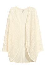 Lace cardigan - Natural white - Ladies | H&M 4