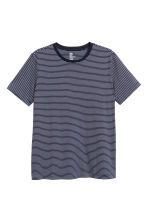 Striped T-shirt - Dark blue/White - Men | H&M CN 2