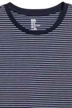Striped T-shirt - Dark blue/White - Men | H&M CN 3