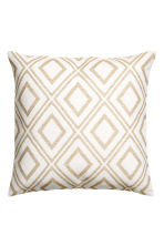 Jacquard-weave cushion cover - White/Patterned - Home All | H&M CN 1