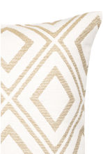 Jacquard-weave cushion cover - White/Patterned - Home All | H&M CN 3