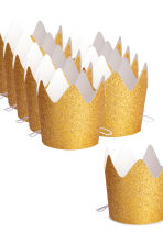 10-pack crowns - Gold/Glittery - Home All | H&M CN 4